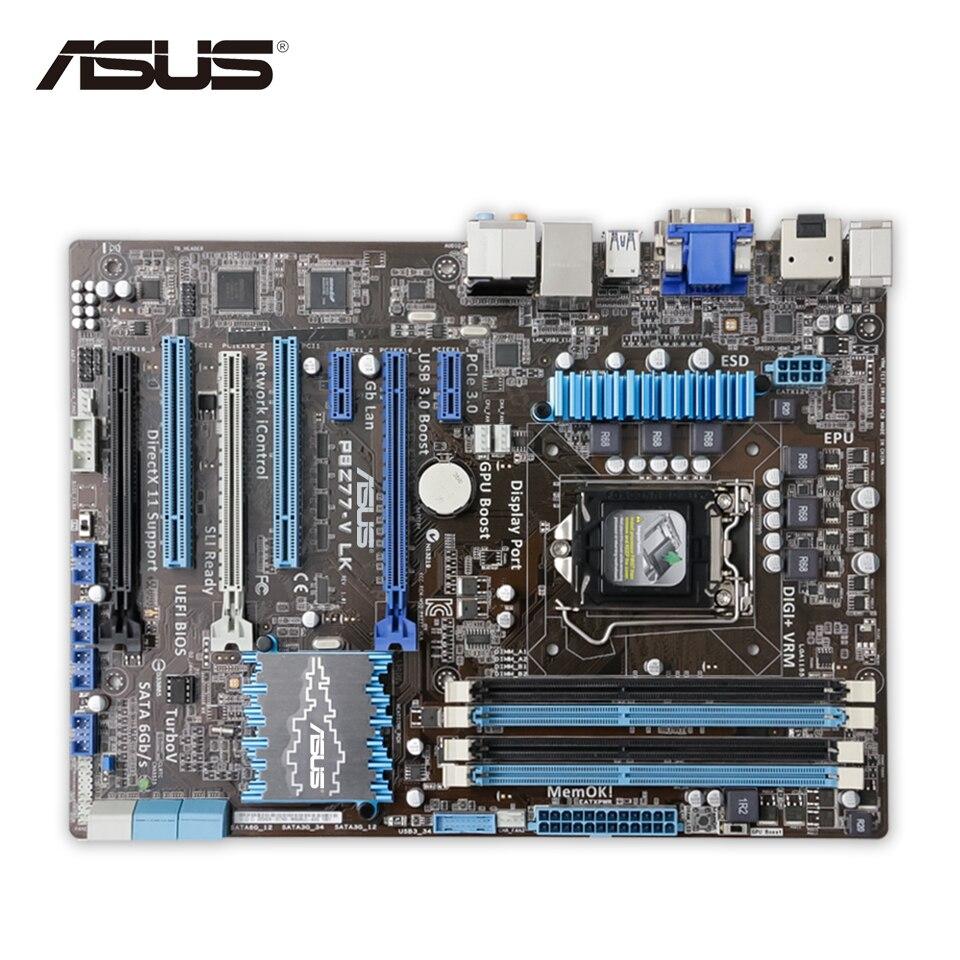 Asus P8Z77-V LK Original Used Desktop Motherboard Z77 Socket LGA 1155 i3 i5 i7 DDR3 32G SATA3 USB3.0 ATX puky lk z 9129