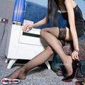 20x nuevo estilo moda Sexy encaje negro mallas netas muslo medias altas envío gratis