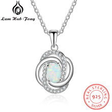 купить 925 Sterling Silver Pendant Necklace with Cubic Zirconia Twist Love Knot Necklace Women Accessories Gift for Wife (Lam Hub Fong) по цене 329.33 рублей
