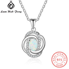 0e371e621c4b Plata de Ley 925 colgante de collar de plata con Zirconia cúbica giro nudo  de amor collar de las mujeres accesorios regalo para .