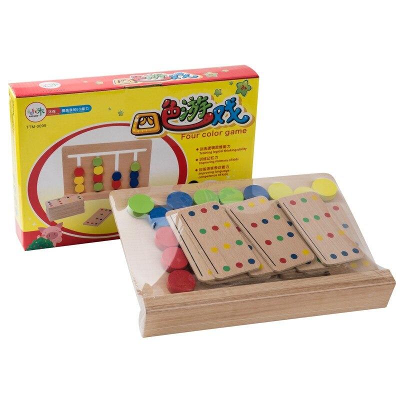 Brinquedo do bebê montessori quatro cores jogo