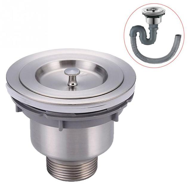 stainless steel kitchen sink drain assembly waste strainer and basket strainer stopper waste plug sink filter - Kitchen Sink Drain Assembly