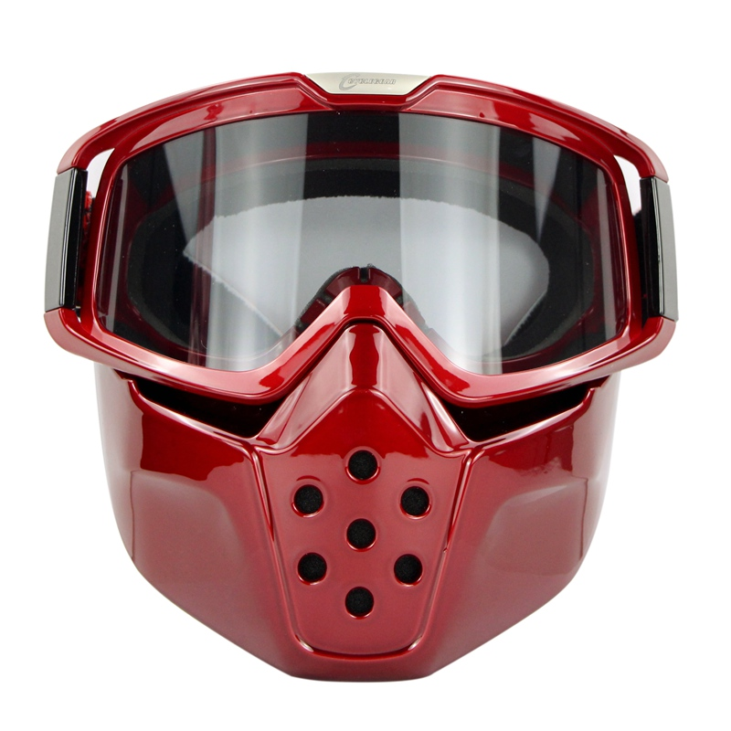 Shark Anti-Angin Mask Goggle Motocross Goggles Vintage Helmet Fitting Motosikal Retro Membuka Face Helmet Shield Bike Gafas CG04