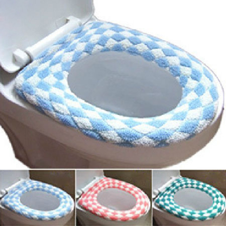 padded toilet seat cover. Hot Selling Winter Flocking Toilet Seat Cover Multi Color O Closestool Mat Padded  Warm