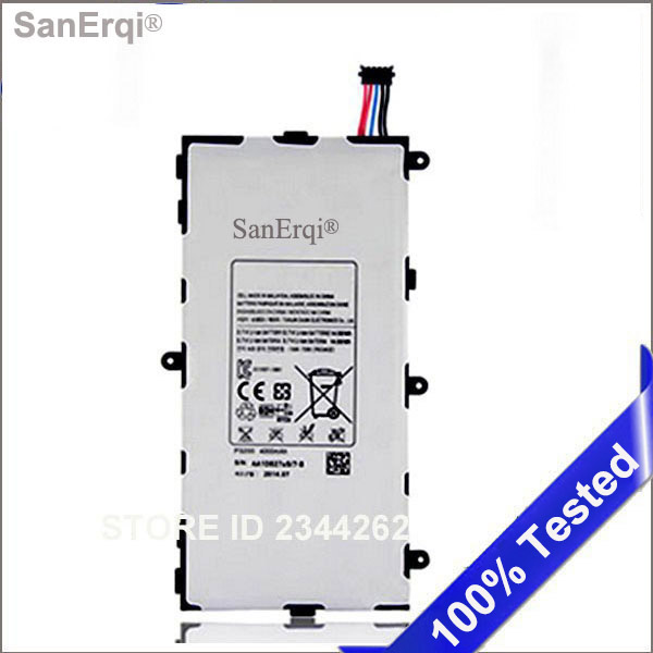 Battery For Samsung Galaxy Tab 3 7.0 SM T210 T211 T215 GT P3210 P3200 4200mAh Replacement <font><b>T4000E</b></font> SanErqi image