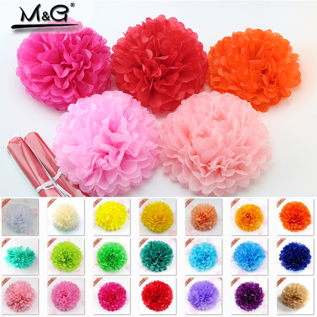 Aliexpress buy diy multi colors tissue paper pom poms for diy multi colors tissue paper pom poms for wedding birthday party craft supplies paper flowers mightylinksfo