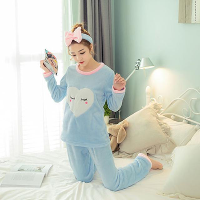 Warm Cute Cotton Long Pajamas