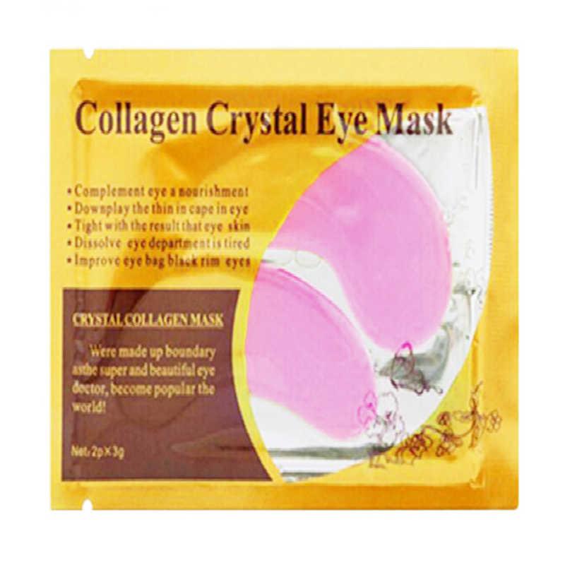 2 adet/1 Çift Kırmızı Göz Maskesi Uyku Göz Yamaları Yüz Bakımı Kristal Kollajen Koyu Halkalar Kaldırmak Antipufiness yaşlanmayan jel maske