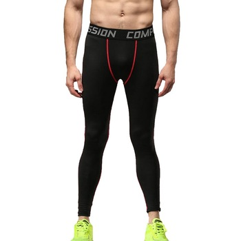 New Fitness Men Running Tights Pants New High Elastic Compression Sports Leggings Quick Dry Training Pants Gym Clothes Plus Size Running Tights