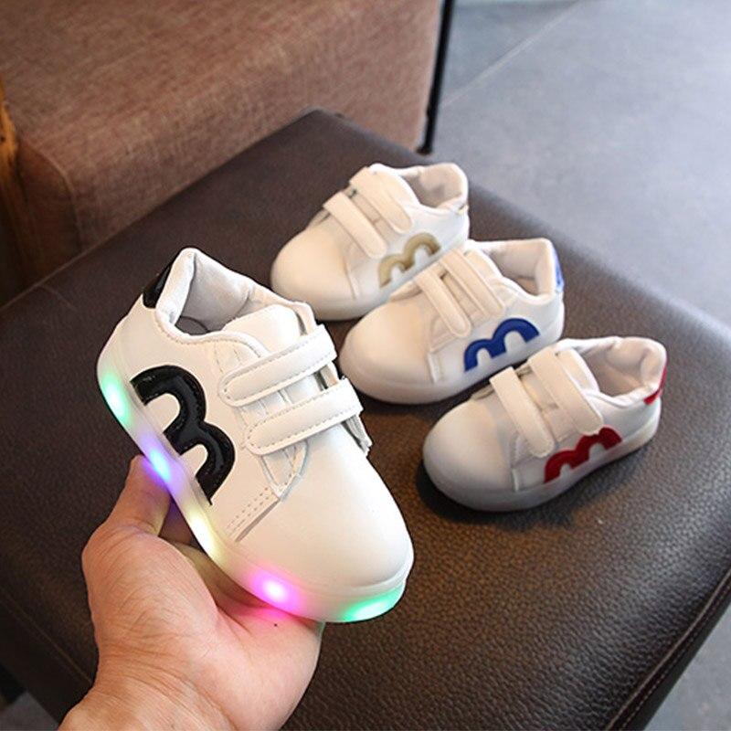 ad80d70de6a Νέα Παιδικά Παπούτσια Κορίτσια Αγόρια Λάμψη Αθλητικά Παπούτσια ...