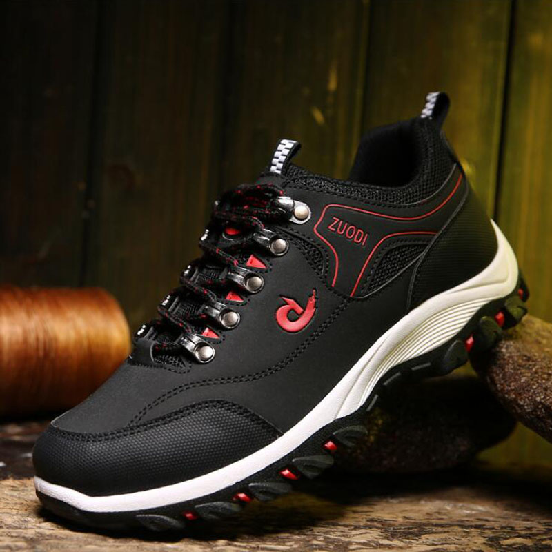 Spring and Autumn Man Sports Shoes Casual Wearable Hiking Sneakers Male Non-slip Running Quality Leather Shoes Large size 47 4