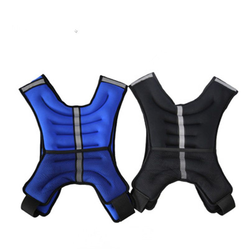 5kg Fitness weighted Vest with steel sand Outdoor Sports Gym Bodybuilding Vest Running Boxing Training Equipment jacket 033105 professional boxing training human simulated head pad gym kicking mitt taekwondo fighting training equipment mma punching target