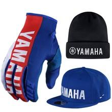 Горячая 2018 Мотокросс перчатка для yamaha шапочка Гонки синий мото перчатки Байк вездеход Мотоцикл перчатки MX