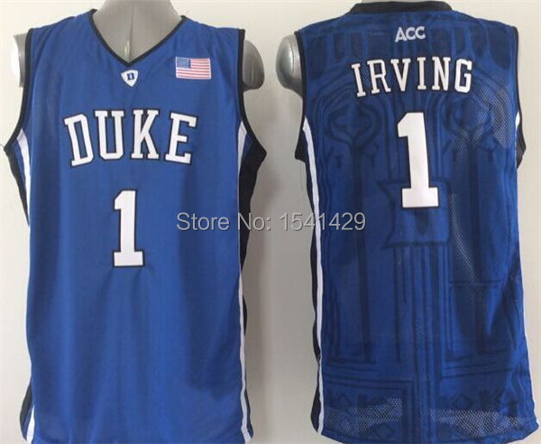 49c443124505 ... authentic duke university jersey 2015 blue devils 1 kyrie irving duke  white black e3f4f a0660