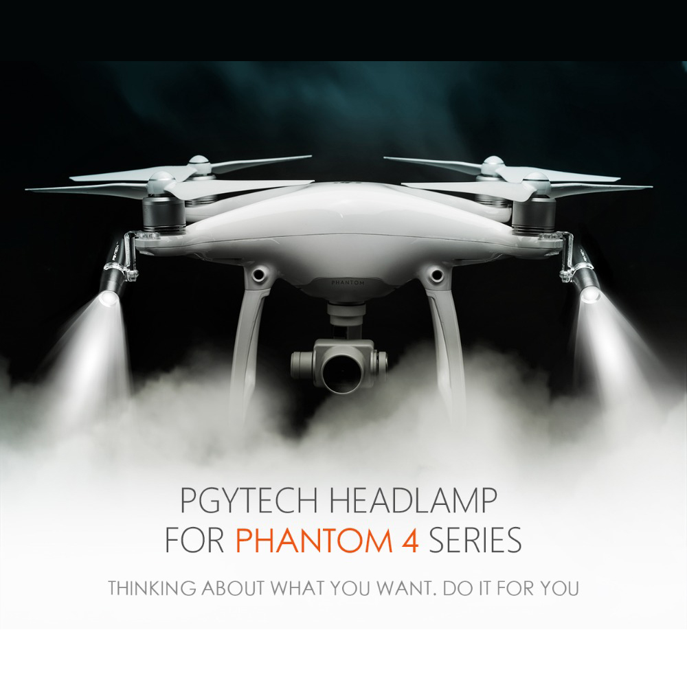 PGYTECH NEW Headlamp Light for DJI Phantom 4 Pro / 4 series CREE XPE R3 LED Four Model Switches Lights Adjust Drone Accessories