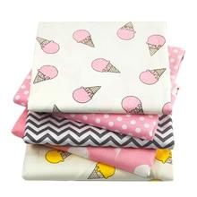 """20*5"""" 50*145 см хлопок ткань мороженое шеврон печатных для ткани дети домашний текстиль, 1Yc721"""