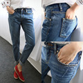 2017 Hot Sale Boyfriend Jeans For Women Vintage Distressed Regular Spandex Ripped Denim Harem Pants Woman Jeans Plus Size