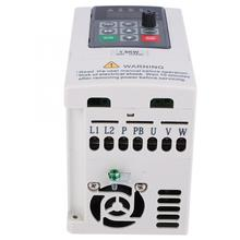 1.5KW 220V 10A Single Phase To 3 Phase 220V Variable Frequency Converter Inverter 110v 0 75kw ac variable frequency inverter converter 3 phase output built in plc single phase space voltage vector modulation