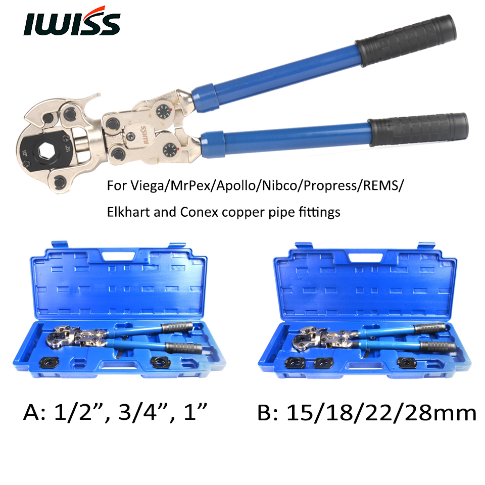 iwiss iws 1632af copper fitting press tool pipe crimping tools hand crimper crimp 15 18 22 28mm. Black Bedroom Furniture Sets. Home Design Ideas