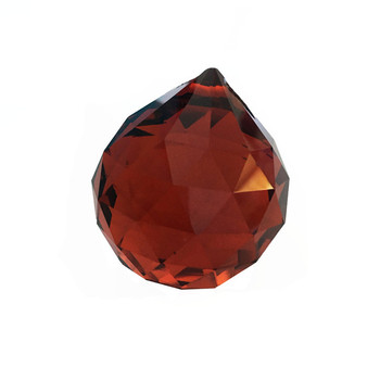40pcs/lot  40mm Tea Color Crystal Prism Chandelier Ball Suncatcher Hanging balls Free SHipping