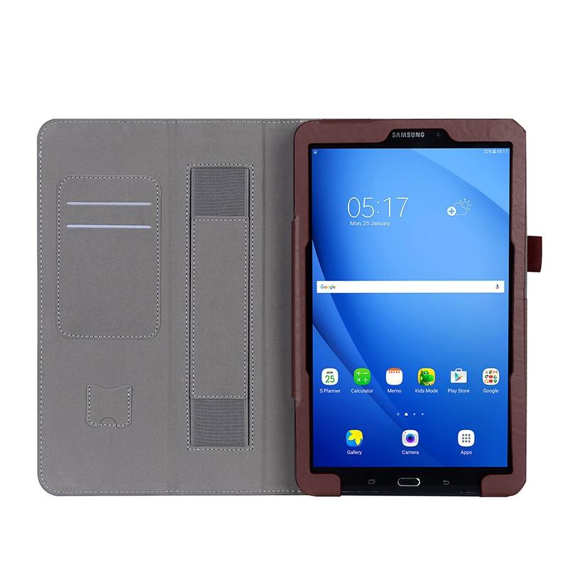 Funda de cuero de alta calidad para Samsung Galaxy Tab A A6 10.1 2016 - Accesorios para tablets - foto 4