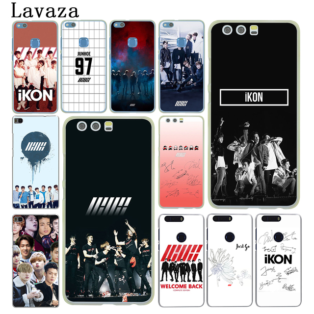 US $1 99 26% OFF|Lavaza IKON Kpop Hard Phone Cover for Huawei P8 P9 P10 P20  Lite Plus 2016 2017 P20 Pro P smart 2019 Case-in Half-wrapped Case from