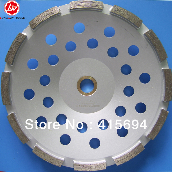 7 single cup wheel,180mm cup wheels for stone,cup polishing wheel.For grinding granite,marble,concrete,ceramic.Free shipping 2pk diamond double row grinding cup wheel for granite and hard material diameter 4 5 115mm bore 22 23mm with 16mm washer