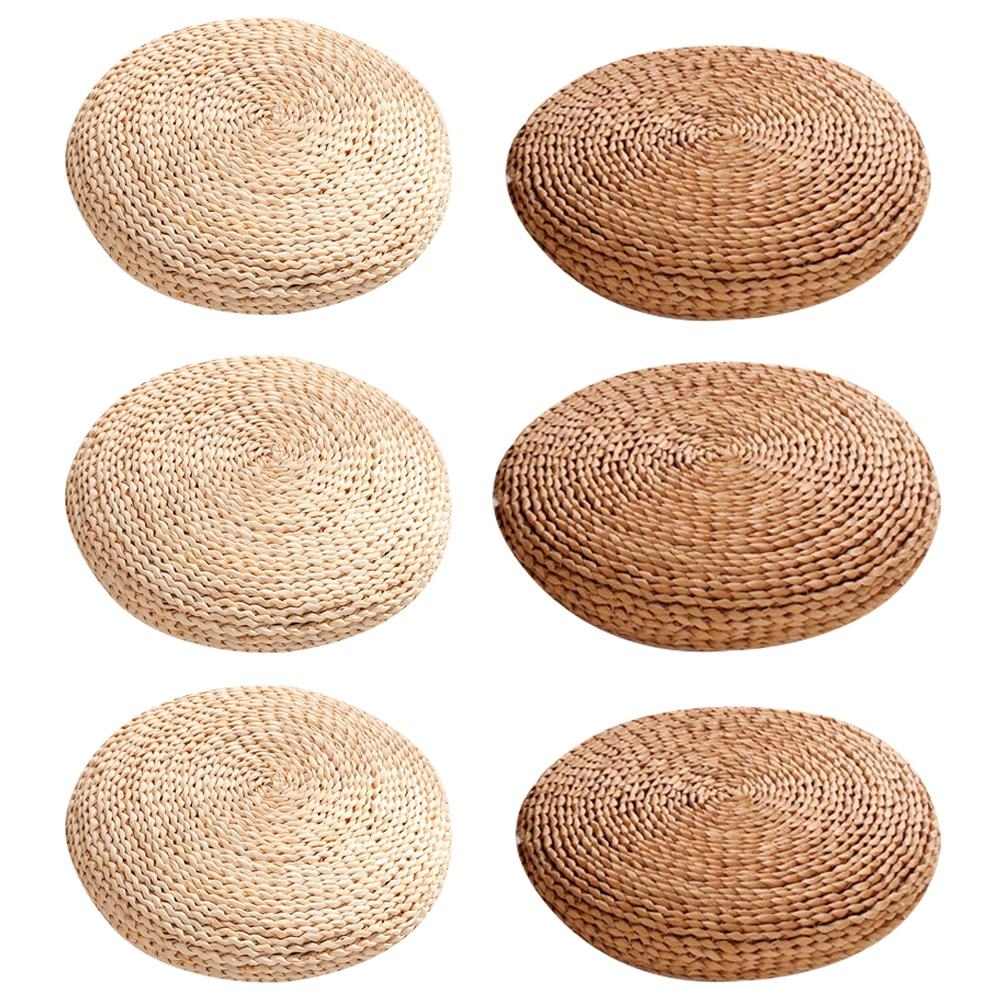 HTB1z78nKuSSBuNjy0Flq6zBpVXaR Tatami Futon Meditation Cushion Thickening Yoga Circle Corn Husk Straw Braid Mat Japanese Style Cushion with Silk Wadding
