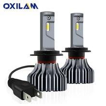 OXILAM 9000LM безвентиляторный H7 светодиодный фара H7 светодиодный Canbus Ошибка Автомобильный свет лампочка противотуманная фара 40 W 6000 K белый DC 12 V 24 V