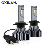 OXILAM 9000LM Fanless H7 LED Headlight Headlamp H7 Led Canbus Error Free Car Light Bulb Fog Lamp 40W 6000K White DC 12V 24V
