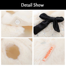 HOOPET Elegant Luxury Fur Winter Overcoat For Small Dogs