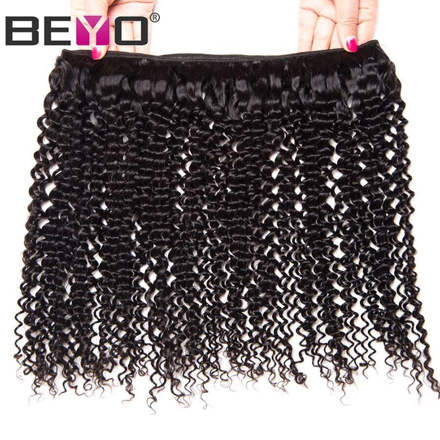 Afro Verworrenes Lockiges Haar Bündelt Brasilianische Haarwebart - Menschenhaar (für Schwarz) - Foto 5