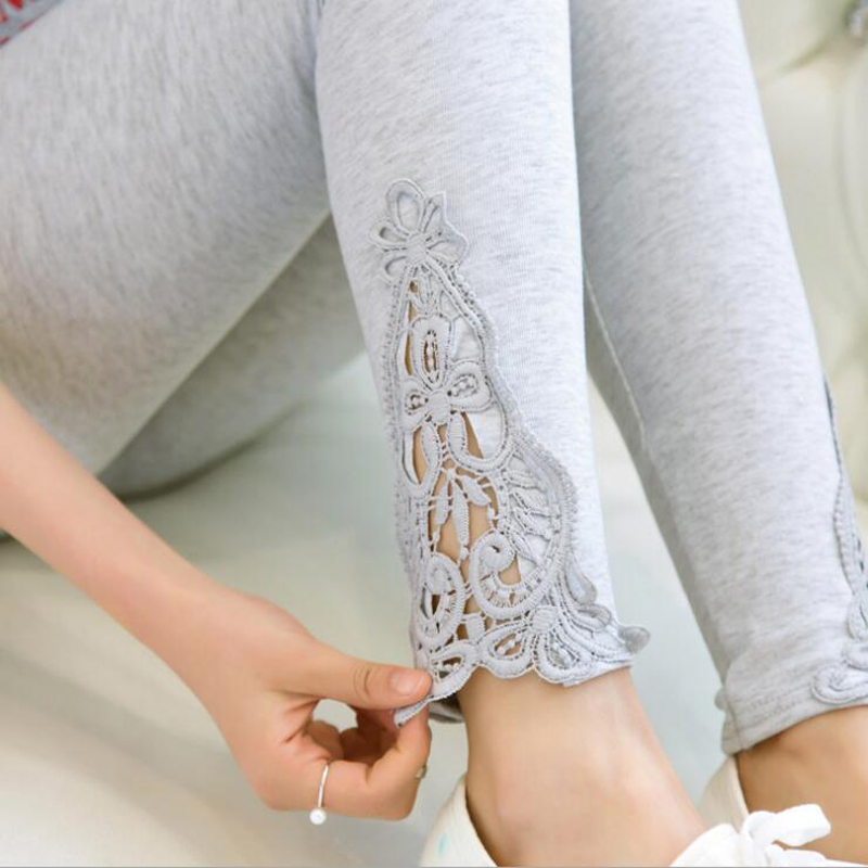 leggings 2018 new quality size S 7xl women leggings thin hollow thin lace leggings solid pants