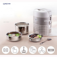 DFH A20D1 1L Mini Rice Cooker Electric Rice Cooker Auto Rice Cooker With Cute Pattern For Rice Soup Porridge Steamed Egg 270W