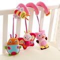 Infant Plush Music Toys Stroller Rattle Baby Toys Learning & Education Rattle Crib Activity Teether Three Beetle Free Shipping