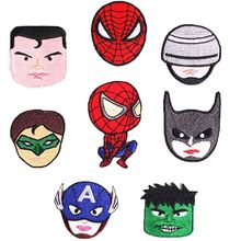 2019 New Avengers Batman Character Anime Patches Fabric Sticker Badge Embroidered Appliques DIY Iron On for Clothes