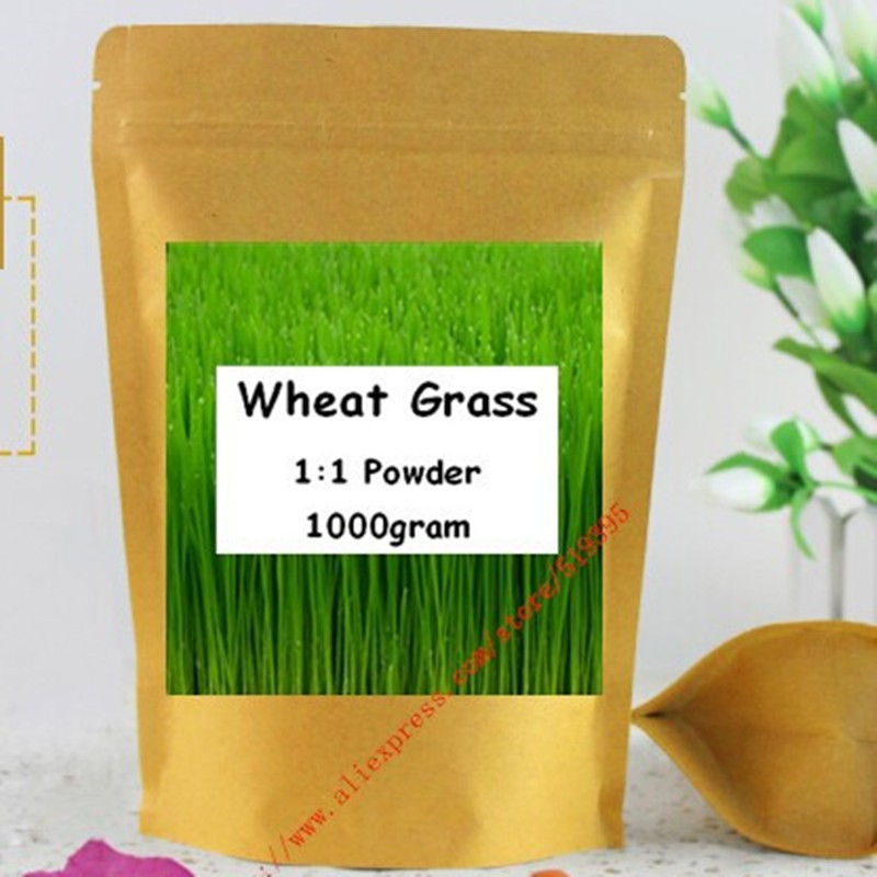 1000gram ,Organic Wheat Grass Pure Powder Green Superfood free shipping image