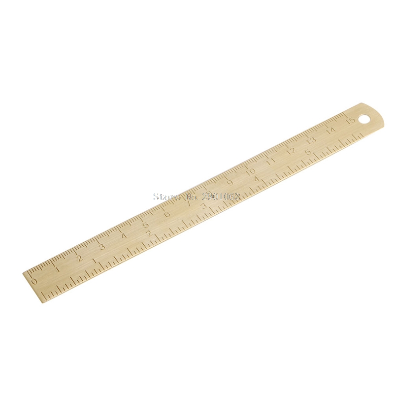 Outdoor Brass Ruler Bookmark Double Scale Cm&Inch Digital For Traveler Notebook -B119