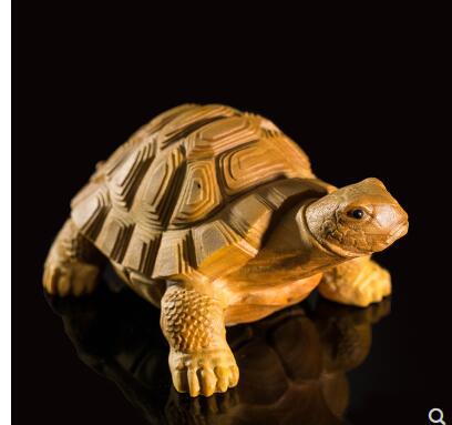 Tortue du monde riche sculpté à la main des diagrammes en bois sculpté à la main dragon tortue sculpture sur bois mignon lapin de poche décoration de la maison statue