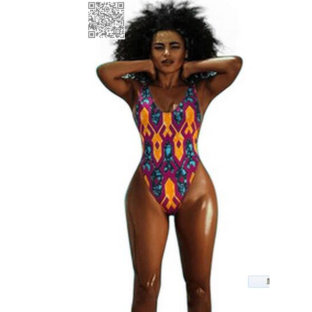 3f0d94e262f3 De alta Perna Sexy Retro Swimsuit de Uma Peça Maiô 2017 Biquíni Mulheres  Nadar Desgaste Africano