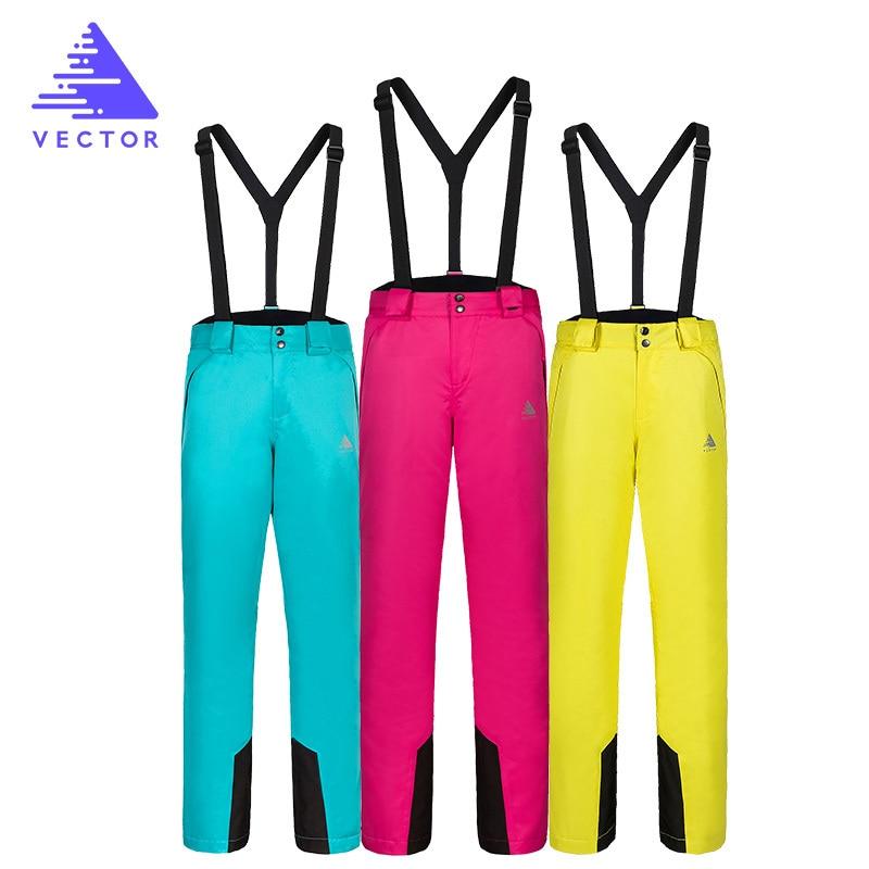 VECTOR Ski Pants Waterproof Women Snow Trousers Outdoor Female Snowboard Snow Pants Winter Skiing Pants HXF70016 pelliot brand ski pants women winter