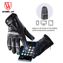 WHEEL UP MTB Breathable Bicycle Glove Women Men Full Finger Cycling Gloves Touch Screen Thermal fleece bike Sport Road