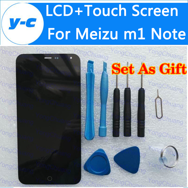 For Meizu M1 Note Lcd+Touch Screen 100% New Display Screen Digital Panel Glass Repair For Meizu MTK6752 1920x1080 FHD 5.5 inch touch screen glass panel for mt508tv 5wv repair new