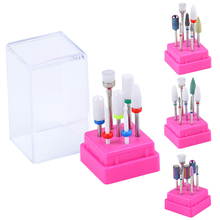 7 Pcs Cutter for Manicure Tungsten Carbide Nail Drill Bit Set Milling Cutters with Nail File Holder Nail Art Pedicure Tools Kit