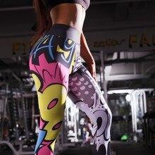 Women Legings Cartoon Printed Leggins high Stretch Girls Legging Punk Rock Leggin Fashion Pants