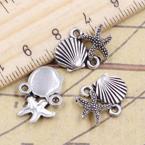 si xiang 10pcs Charms connector Pendants Antique Craft