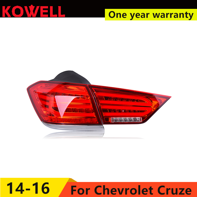 KOWELL Car Styling for  Cruze 2015 2016 taillights LED Tail Lamp rear trunk lamp cover drl+signal+brake+reverse