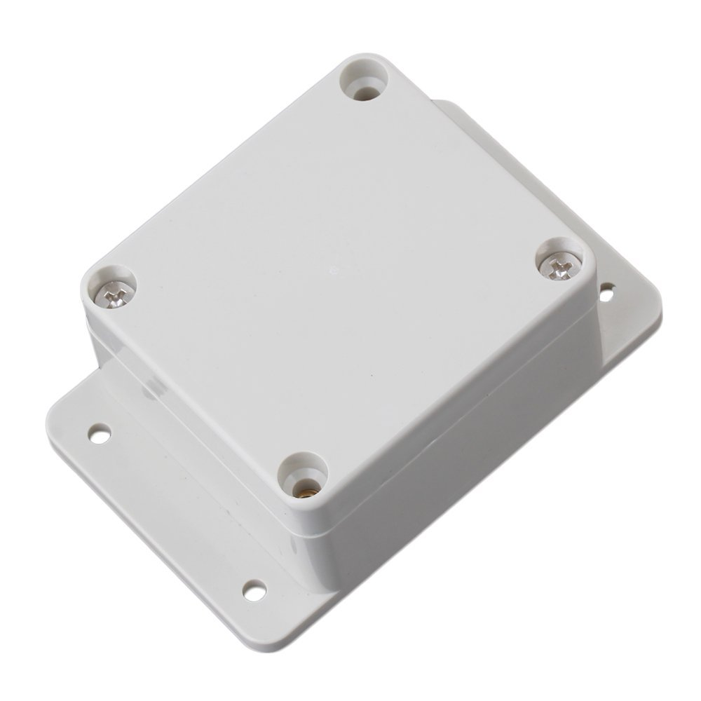 90x58x35mm Gray White IP65 Plastic Waterproof Electrical Junction Box Terminals Enclosure Case