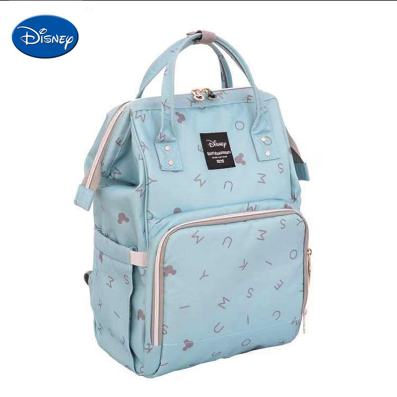 Disney Large Capacity Mummy Backpack Baby Diaper Bag For Mum To Care Baby Milk Insulated Bag Baby Backpack For Women Travel