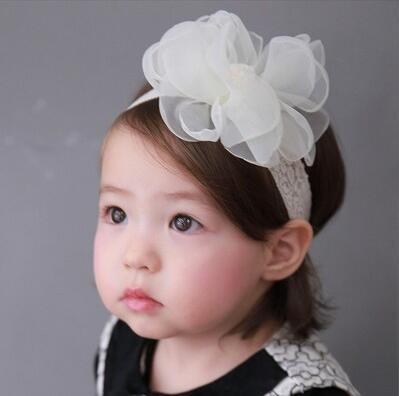 2017 korean baby hair accessories newborn gauze ball